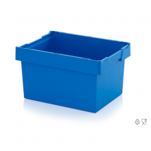 REUSABLE CONTAINERS CLASSIC. 60x40x32 cm. Blue.
