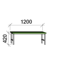 Metallbänk 1200x290x420