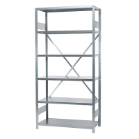 Starter bay 2100x1000x300, used, 6 shelves