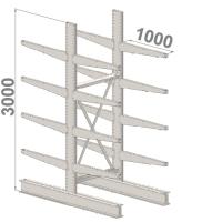 Grenställ startsektion 3000x1500x2x1000,16 x arm