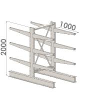 Grenställ startsektion 2000x1500x2x1000,12 x arm