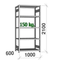 Starter bay 2100x1000x600 150kg/shelf,5 shelves