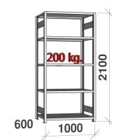 Starter bay 2100x1000x600 200kg/shelf,5 shelves