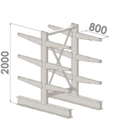 Grenställ startsektion 2000x1500x2x800,12 x arm