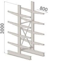 Grenställ startsektion 3000x1500x2x800,16 x arm