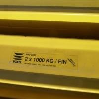 Balk 2300 mm/2x1000 kg. PUNTA