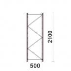 Hyllgavel 2100x500 mm MAXI