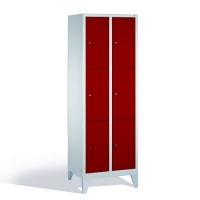 3-tier locker, 6 doors, 1850x610x500 mm