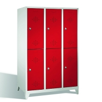 2-tier locker, 6 doors, 1850x1200x500 mm