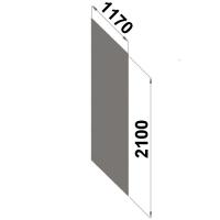 Ryggplåt 2100x1170