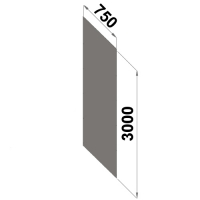 Ryggplåt 3000x750