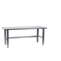 Workbench 1500x800, metal top, galv. legs