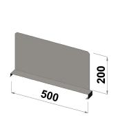 Hyllavdelare 500x200 zn