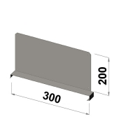 Hyllavdelare 300x200 zn