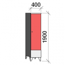 Locker 1x400, 1900x400x545 short door