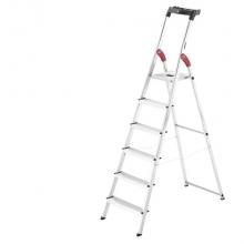 Trappstege, 6-steg, höjd 1280mm