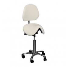 Global CL Dalton saddle stool with backrest
