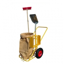 Solid Cleaning trolley 1120x730x1118mm, 200kg