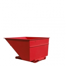 Tipping container 2500L red