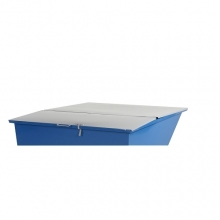 Flat lid for tipping container 1100 l, grey
