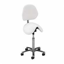 Global CL Pinto saddle stool with backrest
