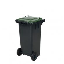 Avfallskärl 120L, svart/grön