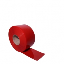 PVC curtain red 2x200mm/meter