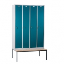 4 door locker with bench 1190x810x2090