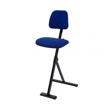 Stand aid upholstered blue