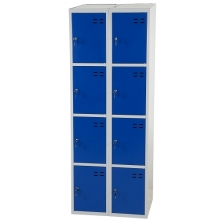 Storage locker, blue/grey 8 compartments  1920x700x550