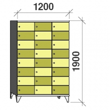 8-Tier locker, 24 doors, 1900x1200x545 mm