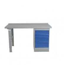 Worktable w. drawer un. 5 draw. 2000x800 mm, vinyl