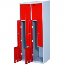 Clothing cabinet, red/grey 2 d/Z-model, 1920x800x550